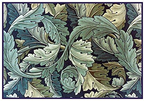 Orenco Originals William Morris Acanthus Vine Blue Green Design Counted Cross Stitch Pattern ()