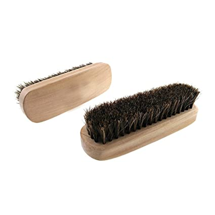 Amazon Com Kxtffeect Pack Of 2 Natural Horsehair Shoes Brush