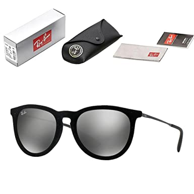 fe442e5d03 Mens Ray-Ban ORB4171 Erika Velvet Black Velvet Frame with Gray Silver  Mirrored Lens 54mm Polarized Sun Glasses - Full Set Package  Amazon.co.uk   Clothing