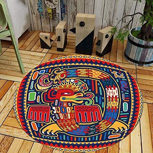 - Graffiti Round Carpet Living Room Parlor Chair Rug Toilet Bathroom Non-Slip Decorations,No.5,Diameter 160cm