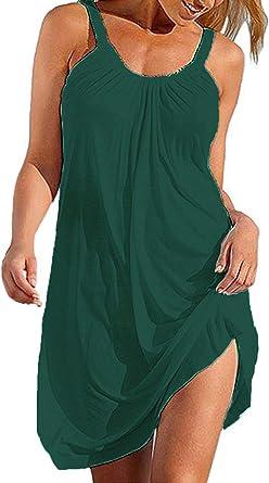 Bluetime Women's Beach Bathing Suit Swimsuit Cover Ups Swimwear Summer Halter Dress