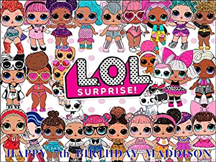 LOL surprise DOLL KIDS HAPPY BIRTHDAY PARTY Favour Sacs 10x Loot Bags