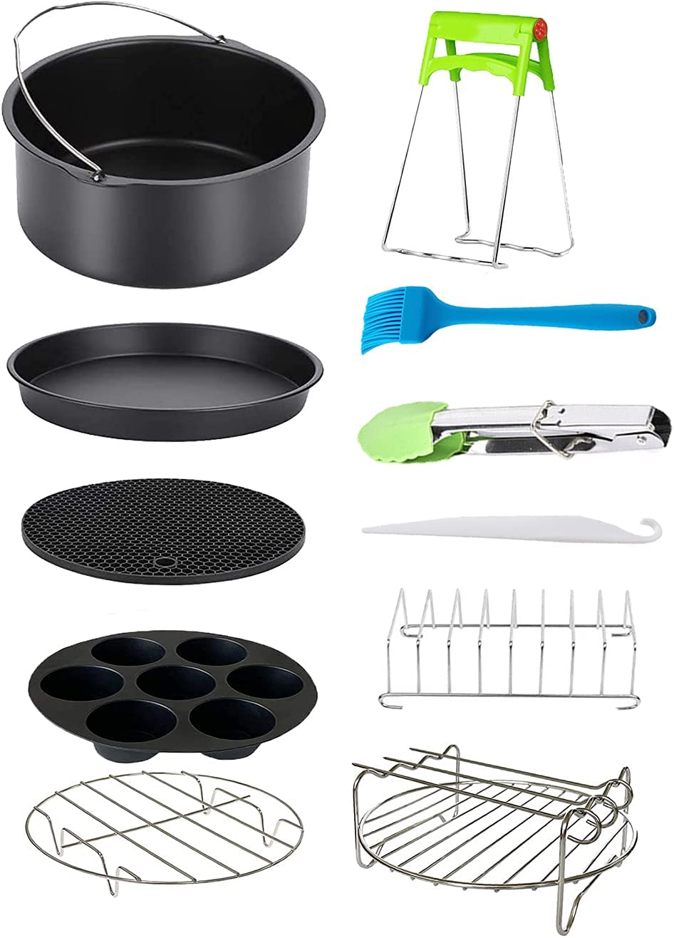 Air fryer accessories set 7 inches 11 pieces Air Fryer Compatible for 7 inch Air Fryers and Oven cake molds instant vortex air fryer accessories