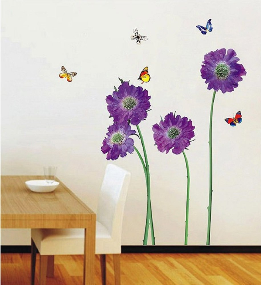 Walplus Huge Flowers Wall Stickers Office Home Decoration 50cm x