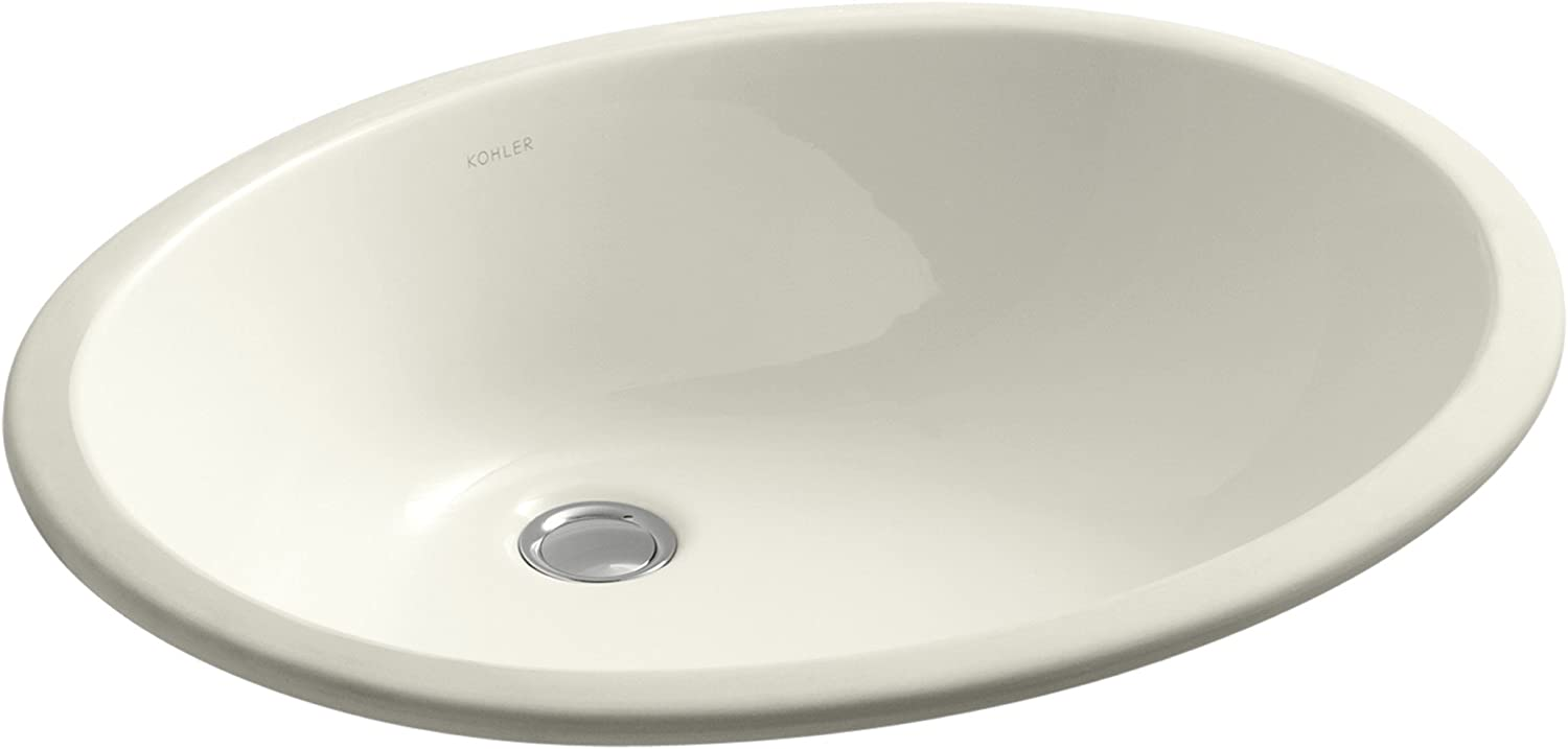 KOHLER K-2211-96 Caxton Undercounter Bathroom Sink, Biscuit