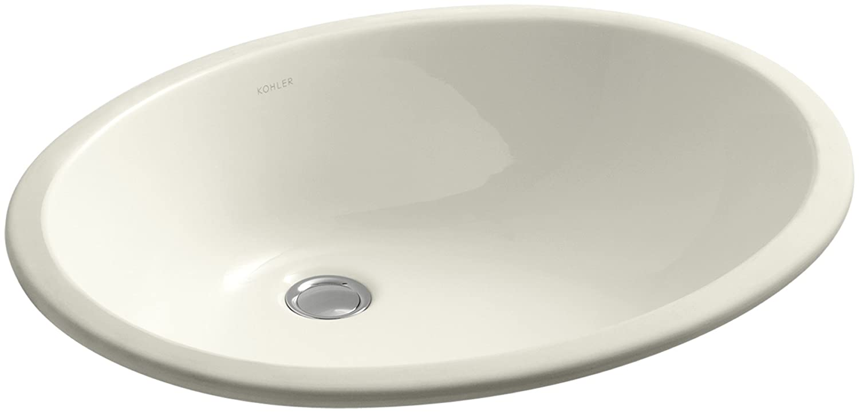 kohler k 2211 ny caxton 19 x 15 undermount bathroom sink with overflow and clamp assembly dune bathroom sinks amazoncom - Kohler Undermount Bathroom Sinks