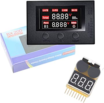 RC Battery Tester Electricity Voltage-Battery Capacity Checker Cellmeter7 2-7S