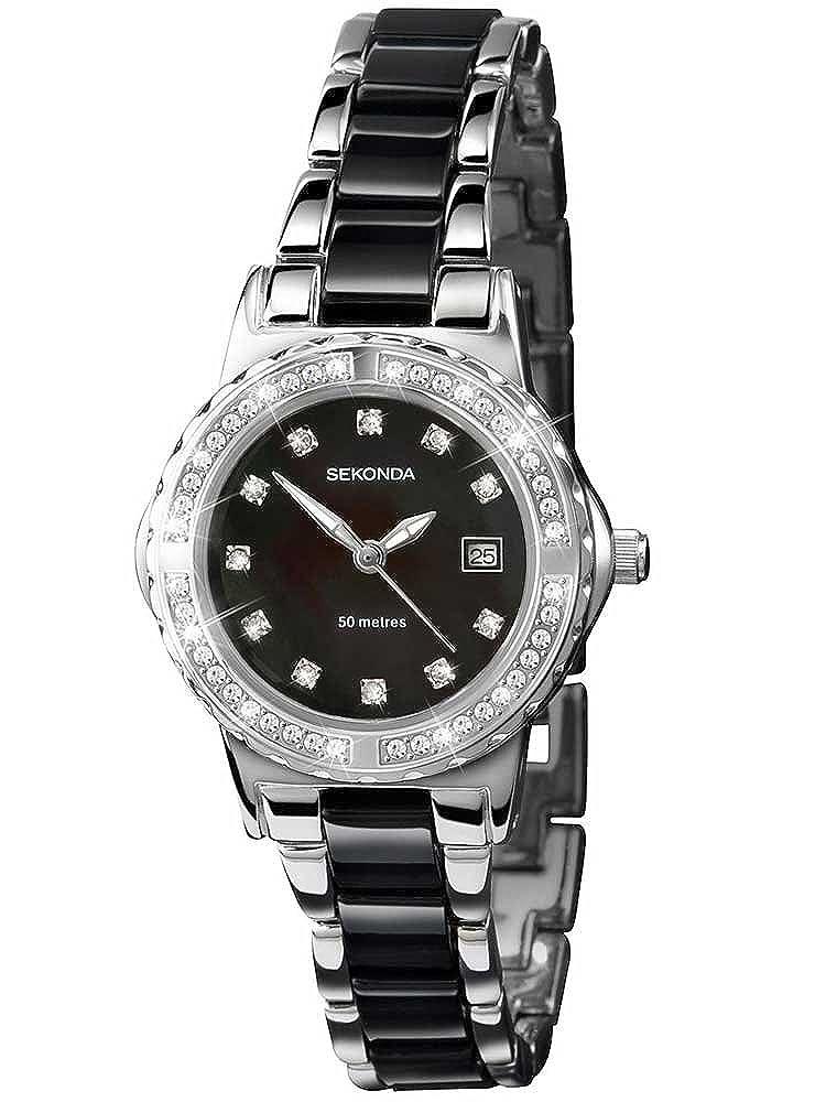 27e3aba1d8c9 Sekonda Ladies Stone Set Watch 4084  Amazon.co.uk  Watches