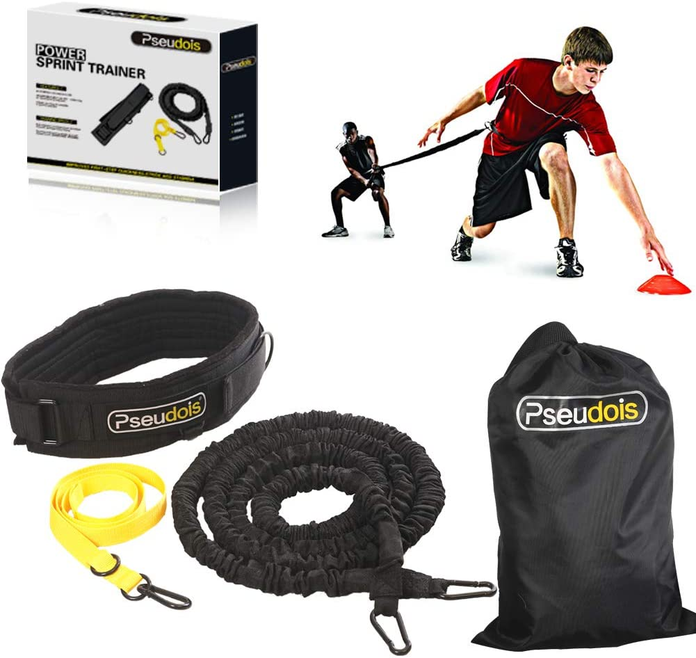 Pseudois Resistance Bungee Band, Running Training Bungee Workout Band, Speed Strength, Basketball and Football Equipment for Improving Strength, Power and Agility : Sports & Outdoors