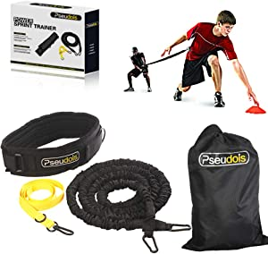 Pseudois Resistance Bungee Band, Running Training Bungee Workout Band, Speed Strength, Basketball and Football Equipment for Improving Strength, Power and Agility