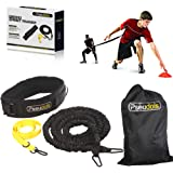 Pseudois Resistance Bungee Band, Running Training Bungee Workout Band, Speed Strength, Basketball and Football Equipment for