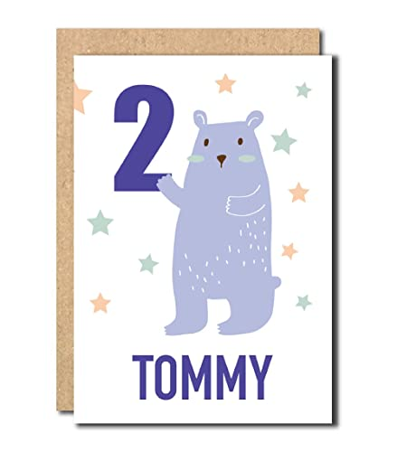 Personalised 2nd Birthday Card For Son Grandson Nephew Cousin