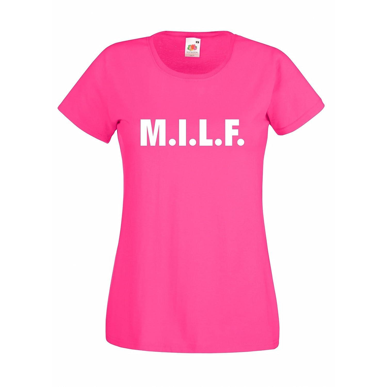 Damen T-Shirt MILF Mother Mutter Mutti Mamma Mum
