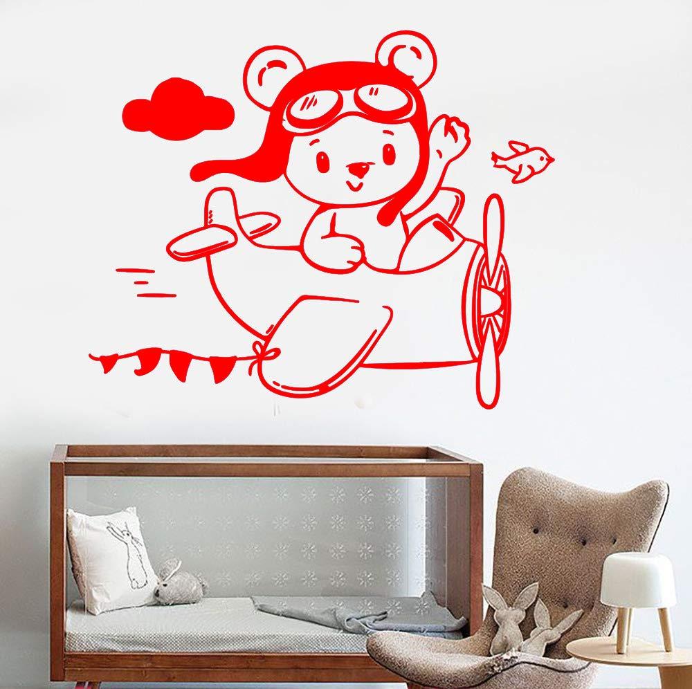 zqyjhkou Bear Aviator Plane Vinilos Decorativos Vinilo Tatuajes de ...
