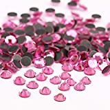 Beadsland Crystal Hotfix Rhinestone,Machine Cut Stone 720pcs/pkg (Dk.Pink, 4mm)