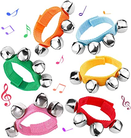 Plastic Music Rhythm Tools Wrist Bells Musical Instrument Toys for Baby Kids