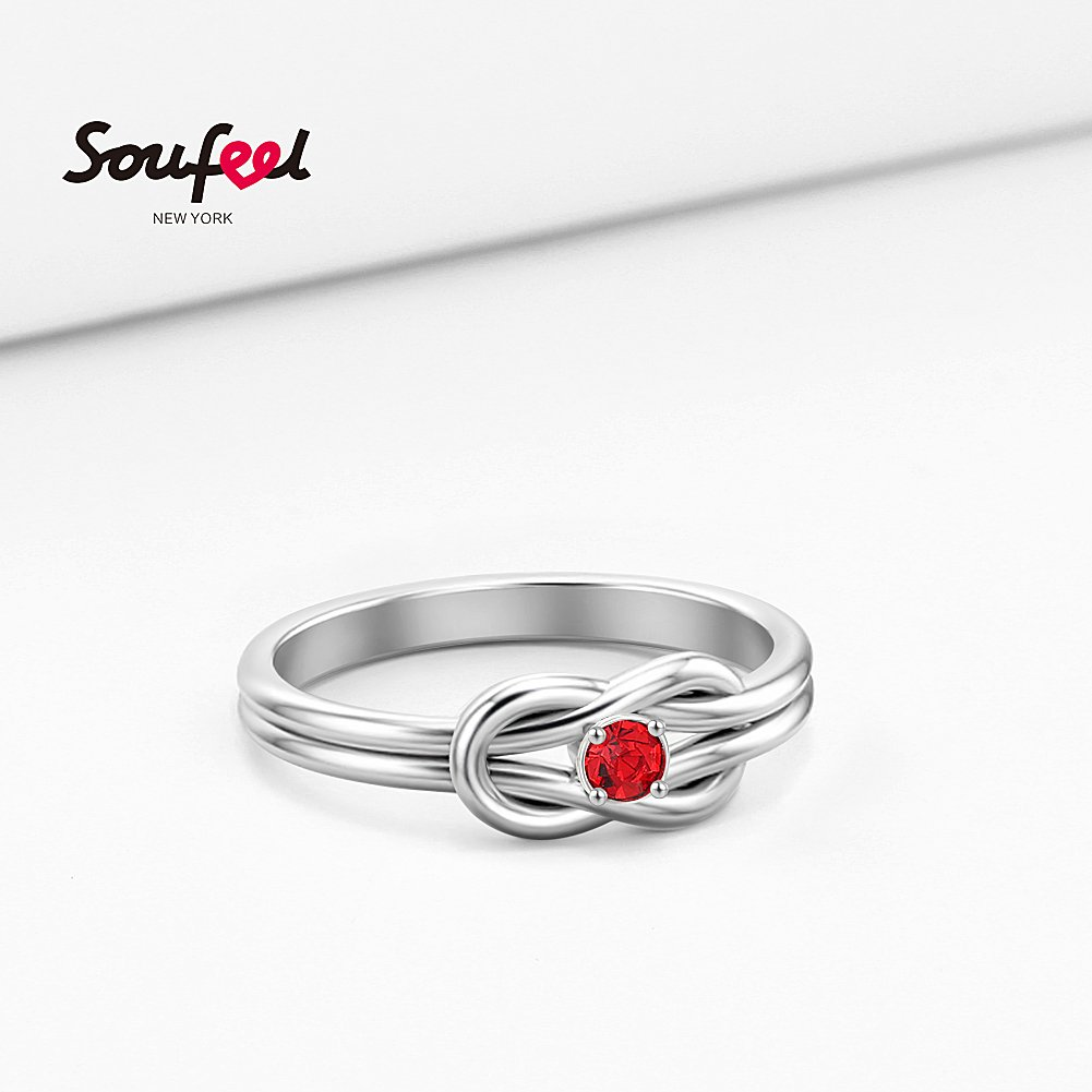 SOUFEEL Promise Rings For Her Sterling Silver Ring Custom Engagement Rings Size 7 by SOUFEEL (Image #6)