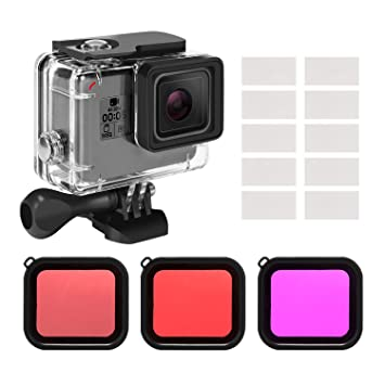 Amazon.com: Kupton Housing Case Filter Kit for GoPro Hero 7 ...