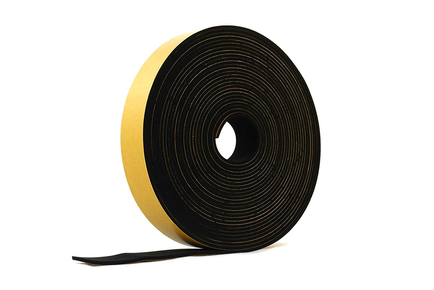 Neoprene Rubber Black Self-adhesive Sponge Strip 10mm wide x 5mm thick x 5m long