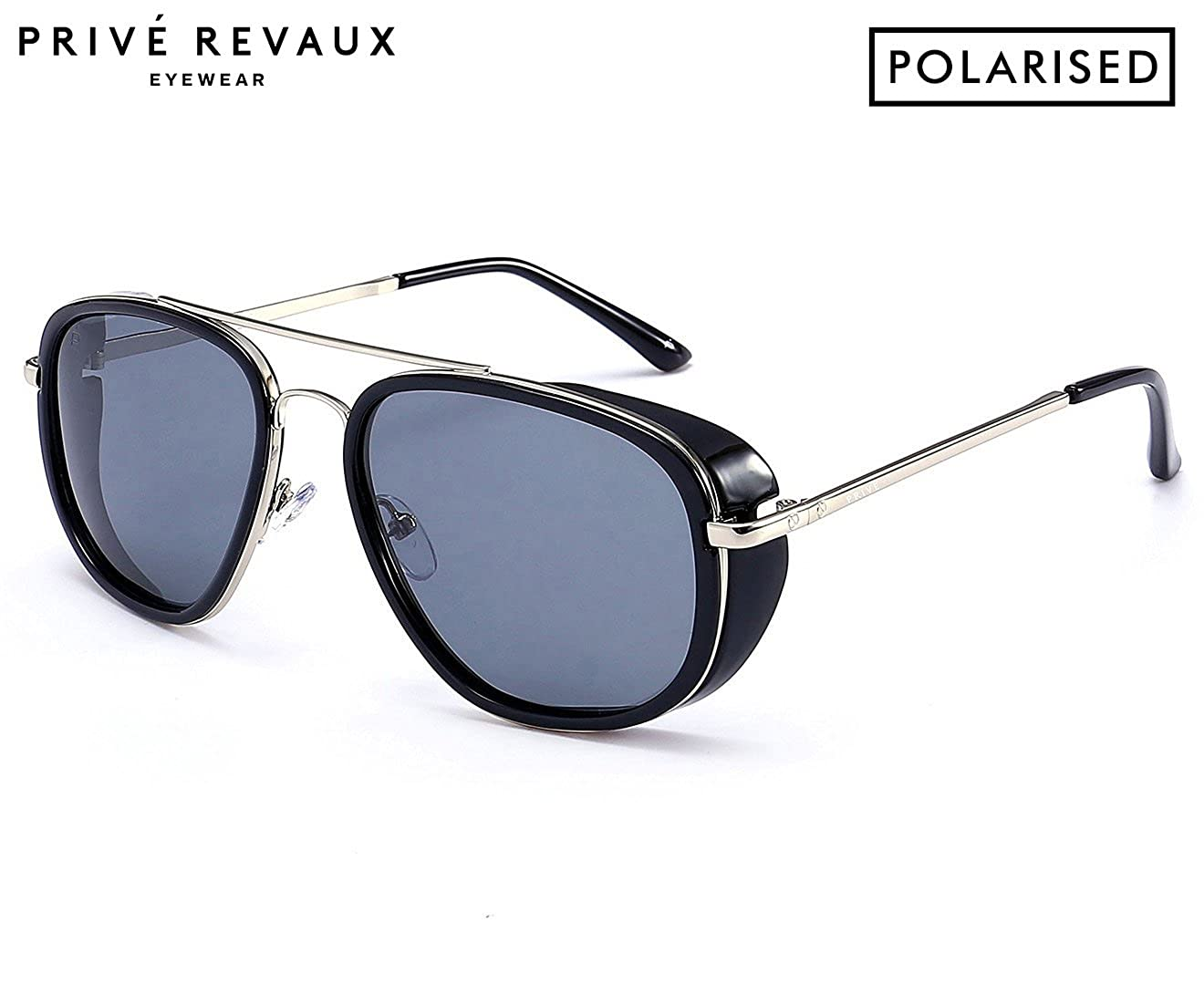 "6c0076d1f8 Amazon.com  PRIVÉ REVAUX ""The Explorer"" Handcrafted Designer Rider Polarized  Sunglasses For Men   Women  Clothing"