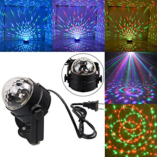 [3W RGB Magic Rotating Ball Effect Led Stage Lights KTV Party Club Bar Disco DJ] (Peppermint Costumes)