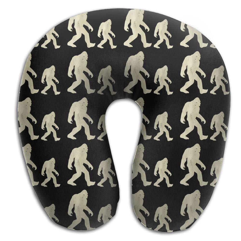 Mortimer Gilbert Bigfoot Hide and Seek Champion Funny Wood Comfortable U-Shape Memory Travel Neck Pillow