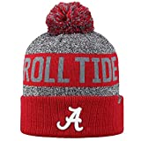 Top of the World NCAA Arctic Striped Cuffed Knit Pom Beanie Hat-Alabama Crimson Tide