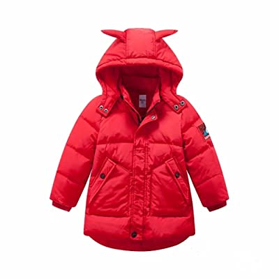 Kmety Boy's Removable Hooded Bubble Jacket Heavyweight Solid Puffer Coat