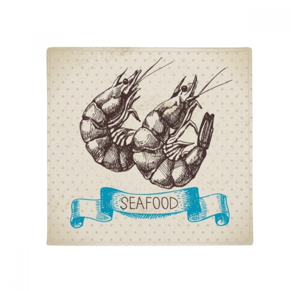 DIYthinker Seafood Shrimp Marine Organism Anti-Slip Floor Pet Mat Square Home Kitchen Door 80Cm Gift