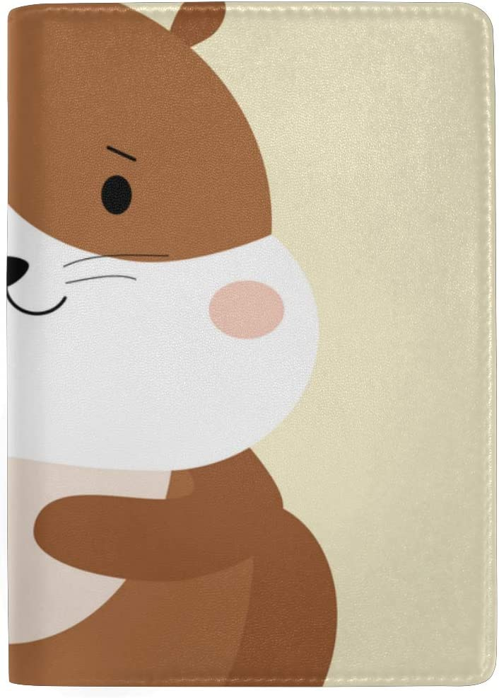 Hungry Pets Of Plush Hamsters Blocking Print Passport Holder Cover Case Travel Luggage Passport Wallet Card Holder Made With Leather For Men Women Kids Family