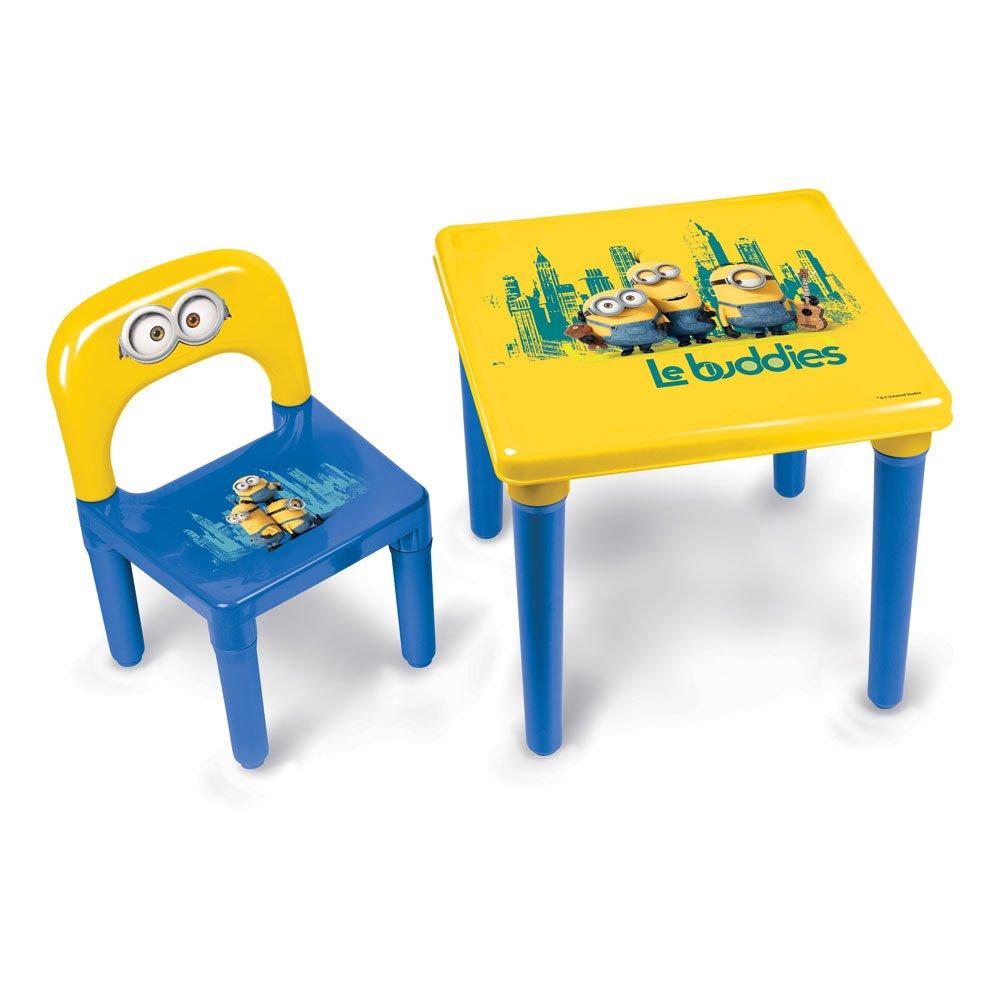 Minions Set con tavolino e sedia per bambini, incl. kit da disegno, 30 pz. DARPEJE DARP-CMIN016