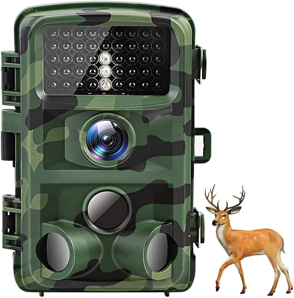 AKASO Trail Camera Game Camera16MP 1080P Waterproof Hunting Scouting Camera TC05 with Motion Activated Night Vision 120°Detecting Range and 0.4s Trigger Speed for Wildlife Monitoring