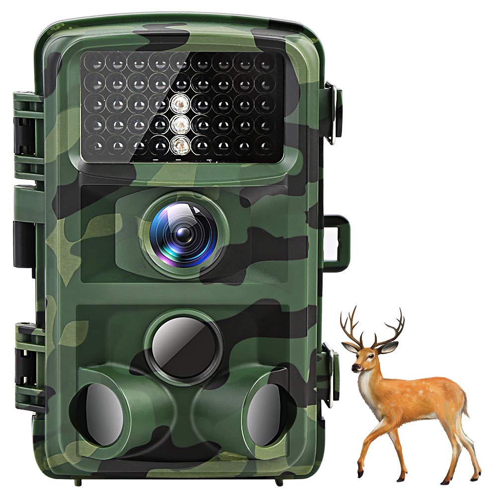 Suntekcam Trail Game Camera 16MP 1080P,Night Vision Waterproof Hunting Camera,Motion Activated Scouting Wildlife Monitoring Cam, 120 Detecting Range 2.0 LCD IR LEDs for Outdoor Home Surveillance