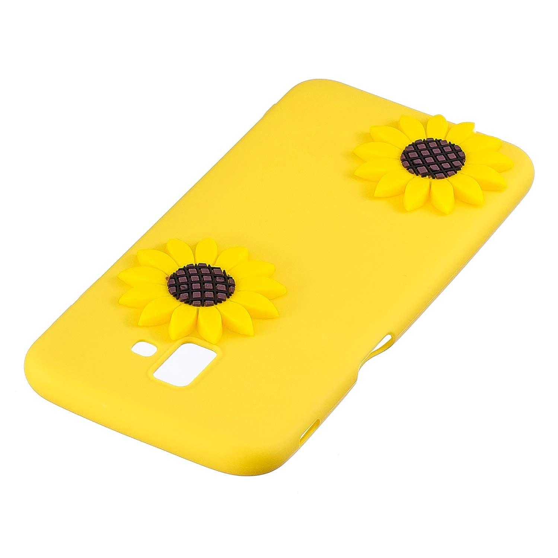 J6+ HopMore Dr/ôle Coque pour Samsung Galaxy J6 Plus 2018 Silicone Souple 3D Motif Licorne Fleur Etui /Étui Antichoc Ultra Mince Fine Housse Protection pour Fille Femme Bleu
