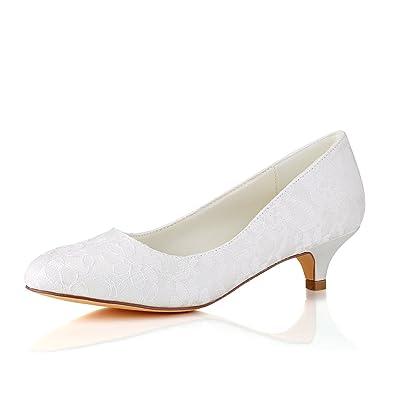 bc9dd3835 Emily Bridal Lace Mother Shoes Round Toe Wedding Shoes Ivory Bridal Shoes  (EU36/UK3