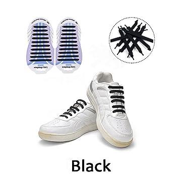 nueva llegada be56e 192a3 HaoXuan Cordones Silicona para Zapatillas - Impermeables Silicona EláStico  CordóN de Zapato para Adultos y NiñOs - Sin Lavado para Zapatillas