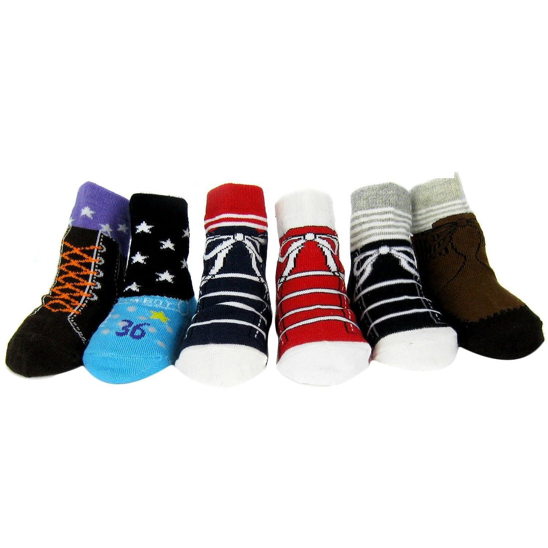 Amazon KF Baby Non Skid Baby Boy Shoe Socks 6 pairs for 12