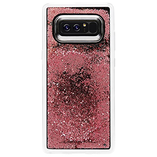 Case-Mate Note 8 Case - WATERFALL - Rose Gold - Cascading Liquid Glitter - Military Drop Protection - Protective Design for Samsung Galaxy Note 8 - Rose Gold