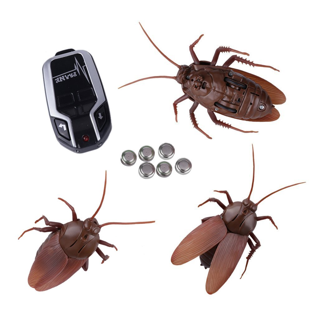 Infrared Remote Control Cockroach Toy Novelty Fake Giant Roaches Look Real Prank Toys Insects Joke Trick Bugs for Kids Pet Toy by Unknown (Image #3)