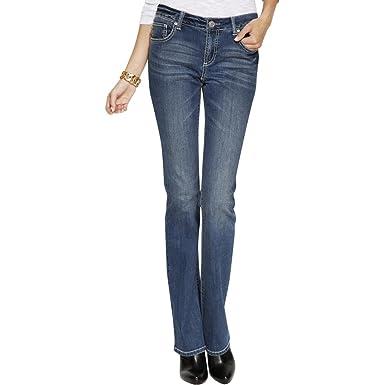 da69d8e0aea INC Womens Denim Curvy Fit Bootcut Jeans - Blue -: Amazon.co.uk: Clothing
