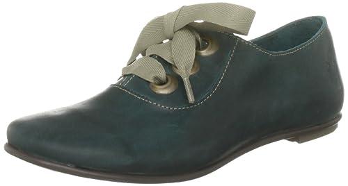 Frances De Cordones Azul London Zapatos Piel Fly Mujer Para vZFOqxSw fc9f6d3530534