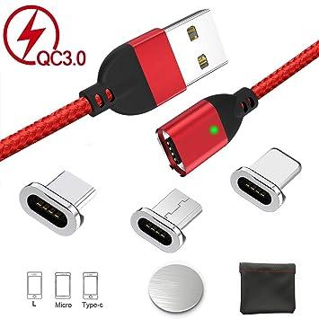 Cable de Carga USB magnético, Carga rápida y sincronización ...