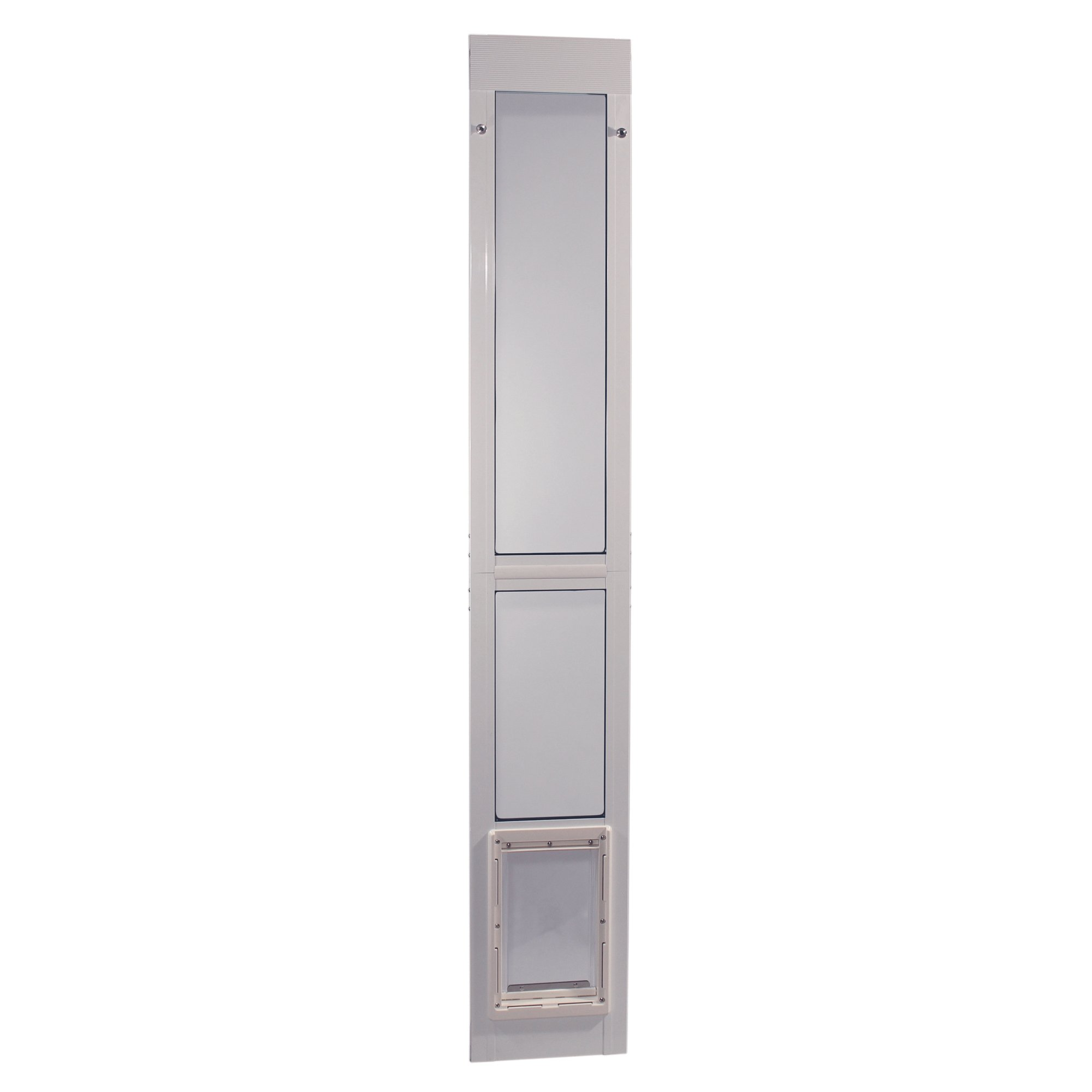 Ideal Pet Products Aluminum Modular Patio Pet Door, White, Medium, 7'' x 11.25'' Flap Size by Ideal Pet Products