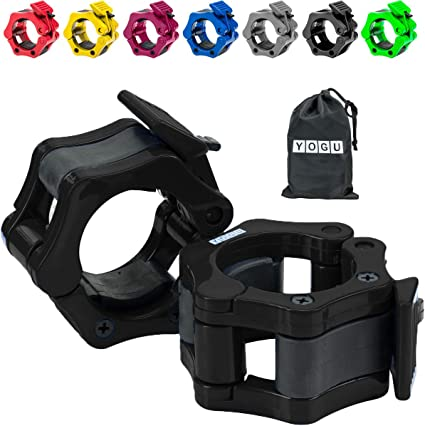 zhenyuan 2Pcs Olympic Barbell Clamp Collar 2 inch Quick Release Weight Barbell Locks Collar Clips for Workout Weightlifting Fitness Training