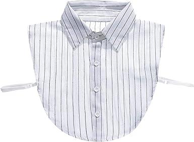 GladThink Musulmán De Las Mujeres Niña Falso Cuello de Camisa Desmontable Collar Blusa Media Camisas Blanco: Amazon.es: Ropa y accesorios
