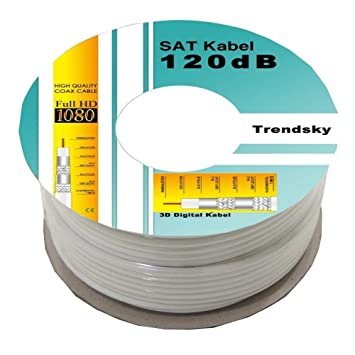 [aniiio] 30 M 120 db SAT coaxial cable coaxial de antena satélite para full
