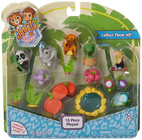 Just Play Jungle in My Pocket Playset Figure Set