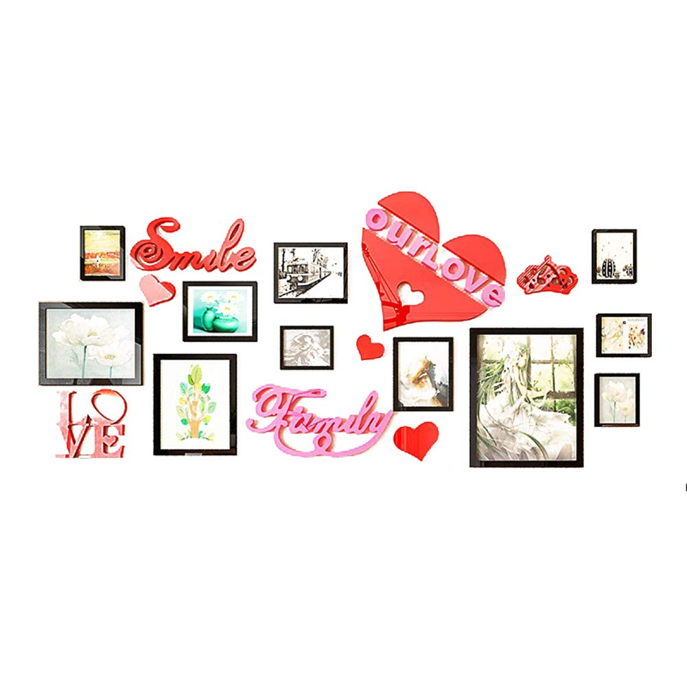 Photo Picture framesDIY 3D Acrylic Large Art Tree Wall Stickers Decals Sticker Living Room Branches Install Family Warm Heart