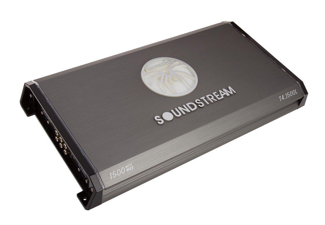 Soundstream T4.1500L 1,500W Tarantula Series 4-Channel Class A//B Car Amplifier
