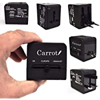 Carrot Universal Travel Adapter with 2 USB Ports